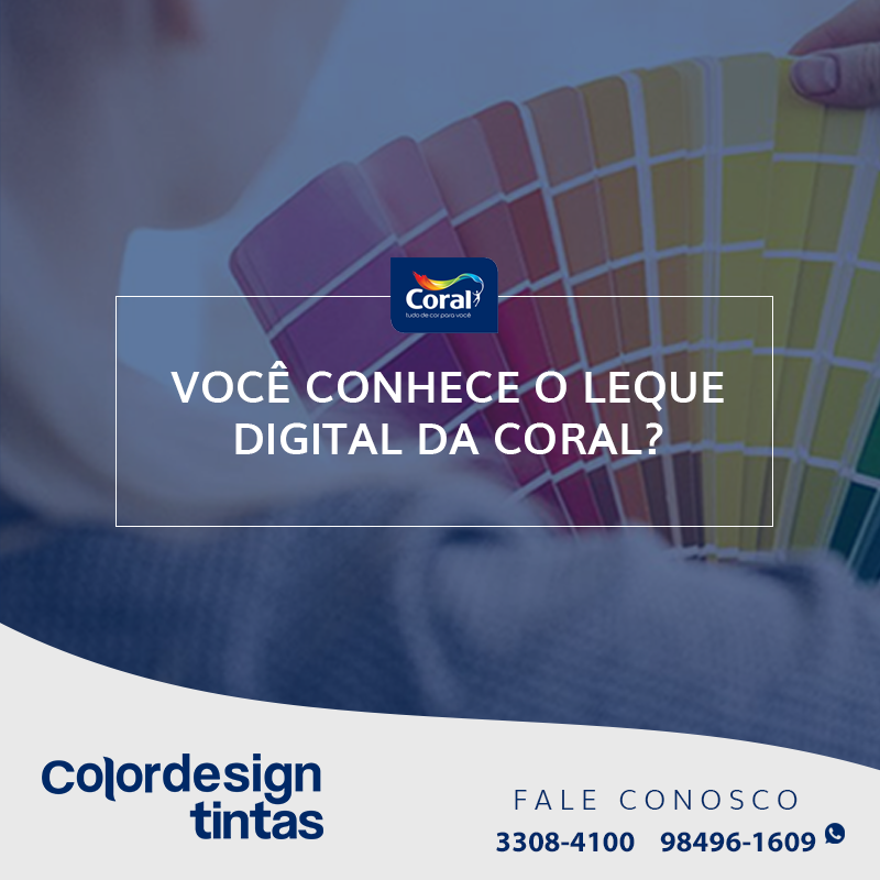 Use o leque digital da Coral nos seus projetos!